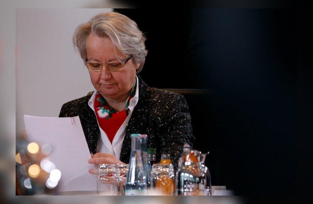 Saksa haridus- ja teadusminister jäeti plagiaadi tõttu doktorikraadist ilma