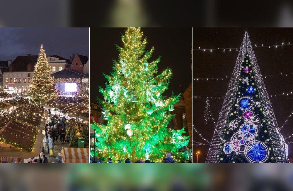 ФОТО. Главные рождественские елки Прибалтики: где красивее — в Таллинне, Риге или Вильнюсе?