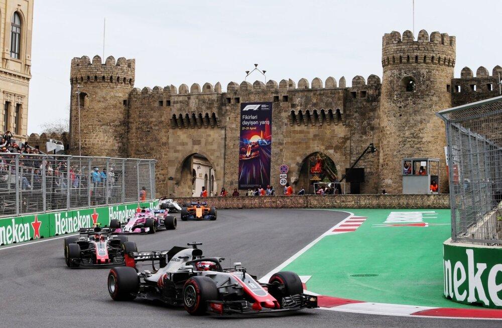 Romain Grosjean Aserbaidžaani rallil.