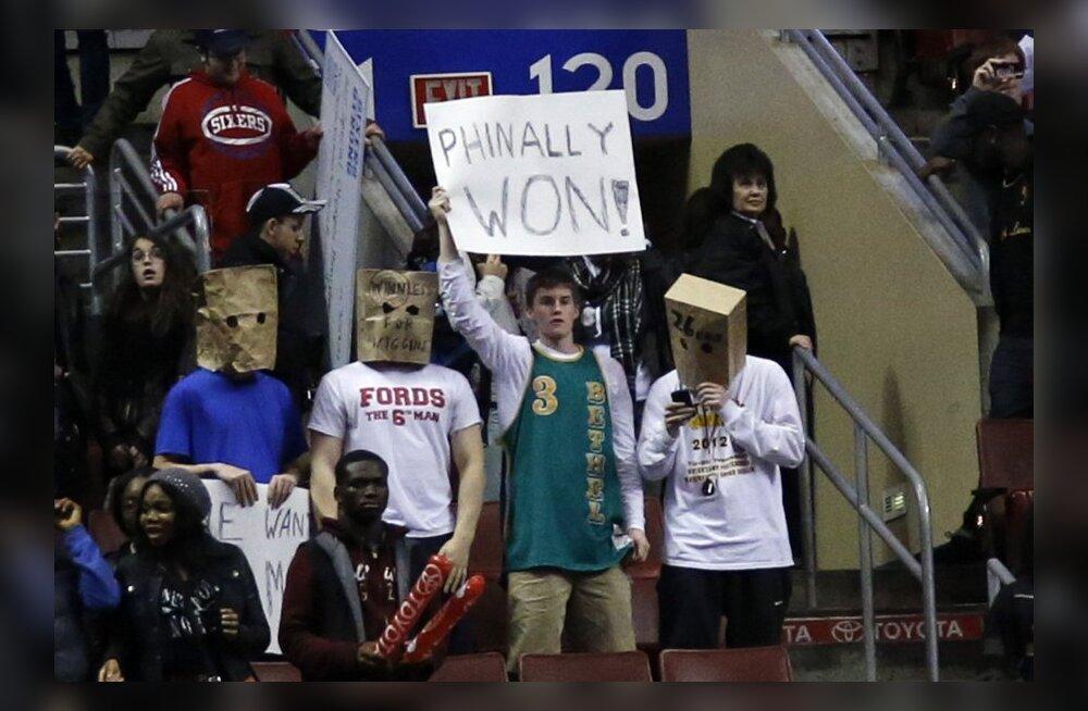 VIDEO: 26 mängu järjest kaotanud Philadelphia sai viimaks võidu