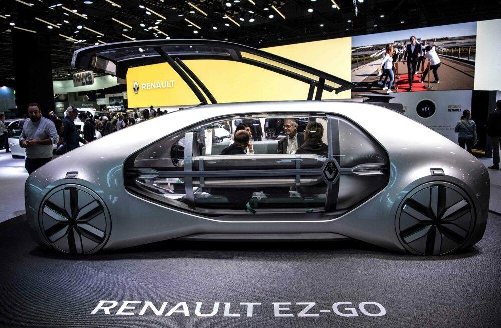 Renault EZ-GO elektriline ideeauto Pariisi motonäitusel.