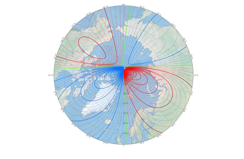 Maa magnetpoolus nihkub nii kiiresti, et teadlased pidid kärmelt uue magnetvälja mudeli looma