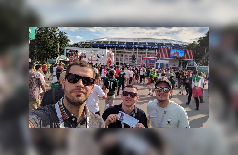 Эстонские болельщики в Москве