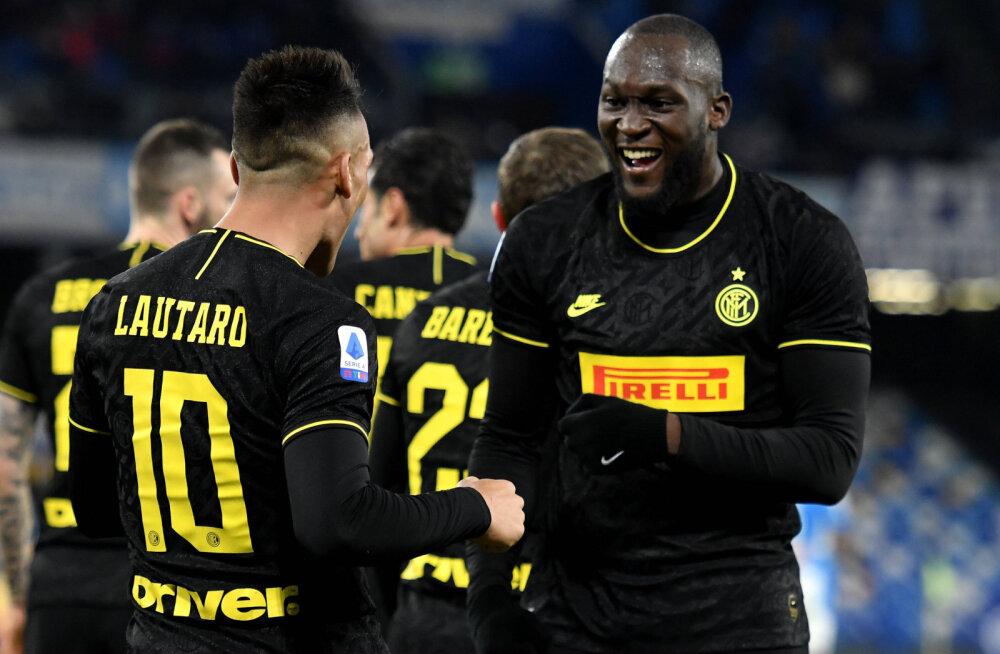 Romelu Lukaku väravad aitas Interi Juventusega ühele pulgale