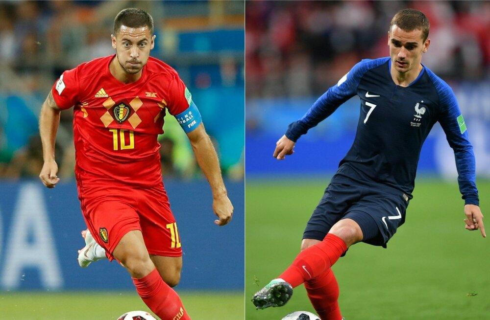Belgia ründeäss Eden Hazard ja tema Prantsusmaa ametivend Antoine Griezmann kuuluvad oma ampluaas maailma absoluutsesse paremikku.