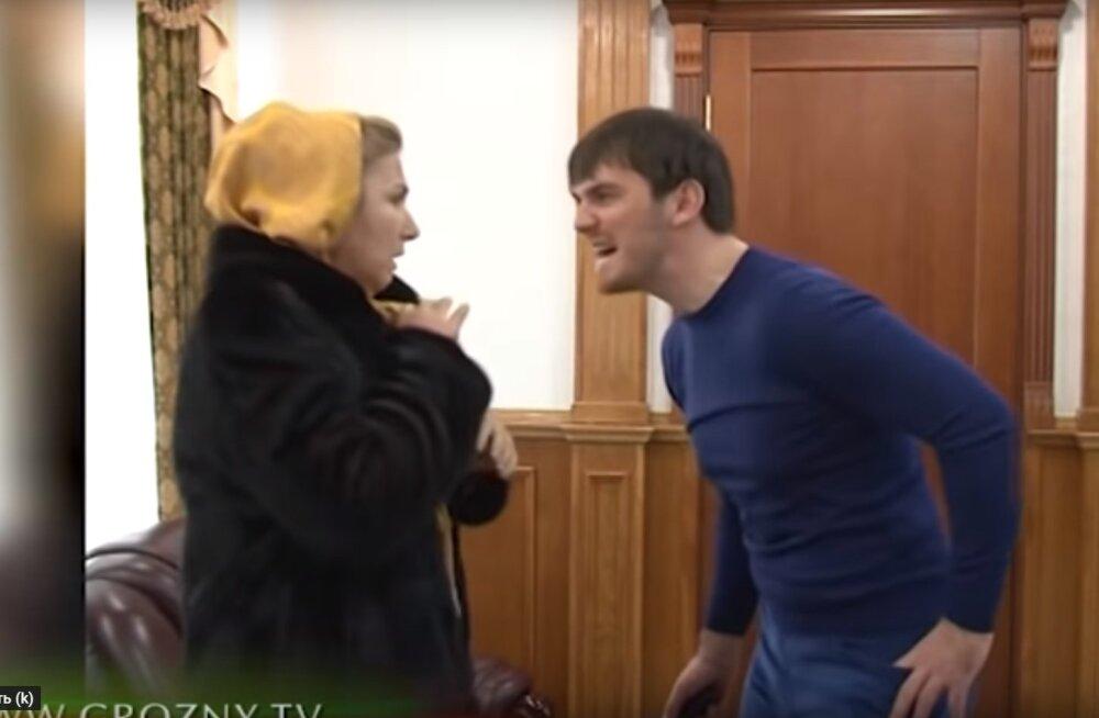 ВИДЕО: Бывший вице-премьер Чечни Ислам Кадыров бьет женщину электрошокером