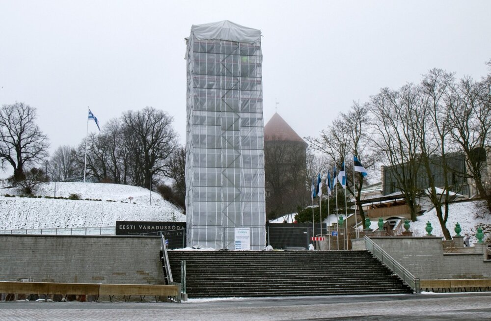 Remondisolev Vabadussõja võidusammas Tallinnas