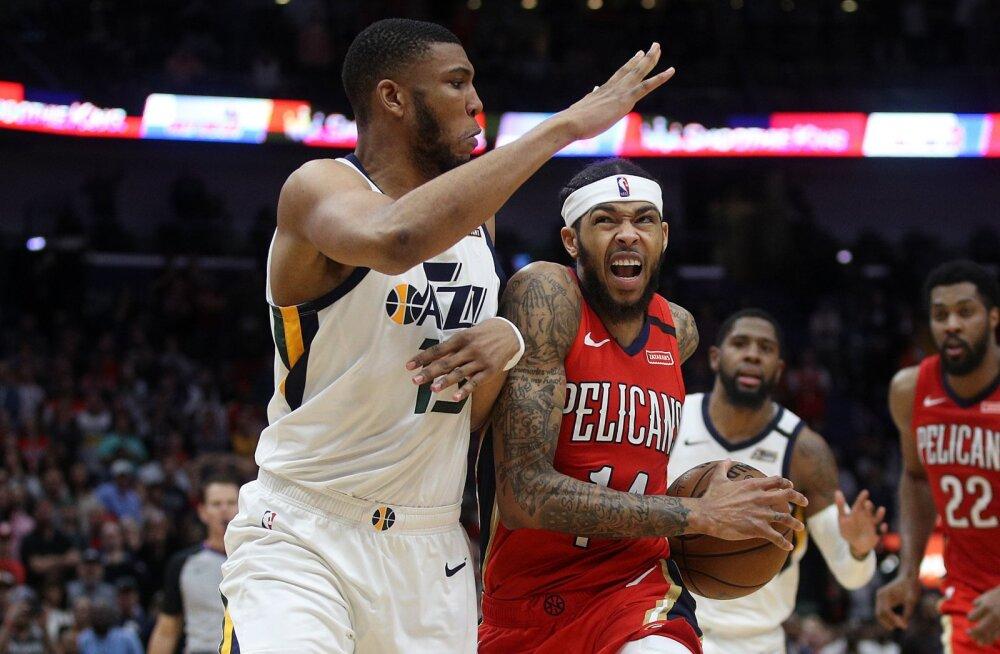 VIDEO | Ingram viskas 49 punkti ja Pelicans lõpetas Jazzi 10-mängulise võiduseeria