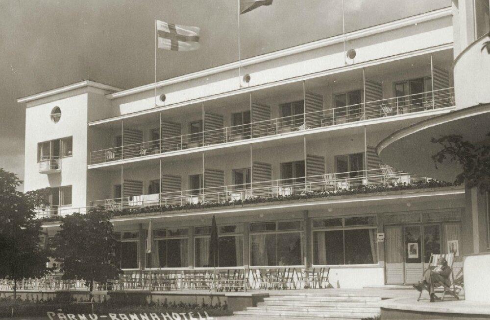 """Arhitektuuripärli juubel: täna täpselt 80 aastat tagasi avati Pärnu rannahotell, millele polnud võrdset """"pooles Euroopas"""""""