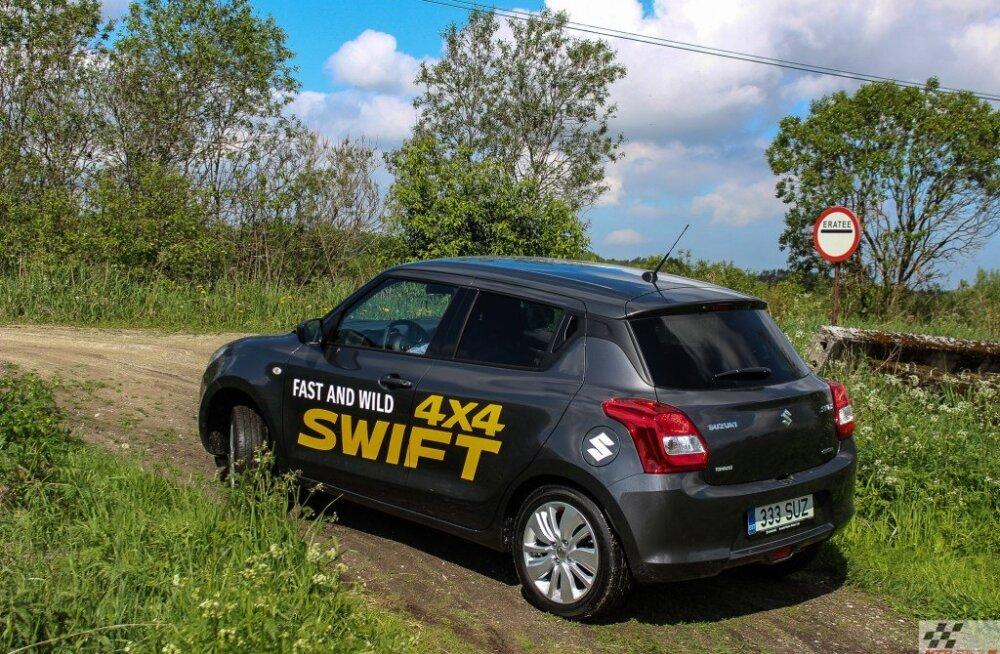 Särtsaka välimusega Suzuki Swift, oma varustuse vang