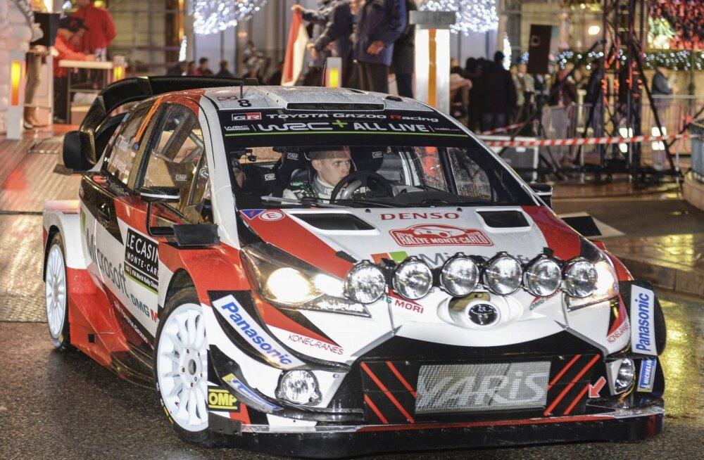 Ott Tänak Toyotaga Monte Carlo rallil.