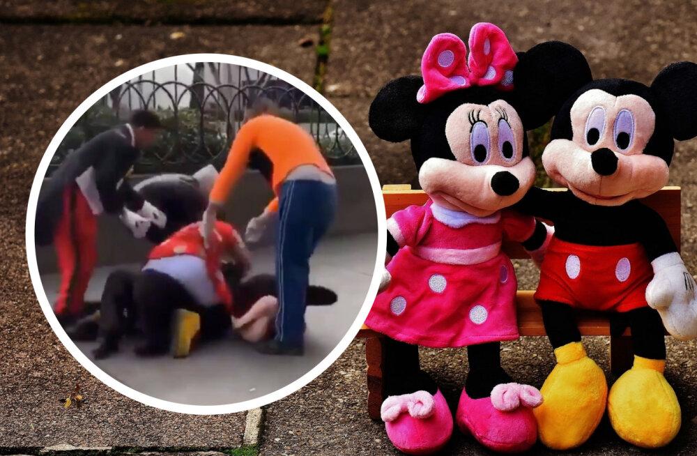 VIDEO | Disneys kiskus teravaks! Minni ja turvanaise kaklust pidid Miki ja Kupi lahutama tõttama