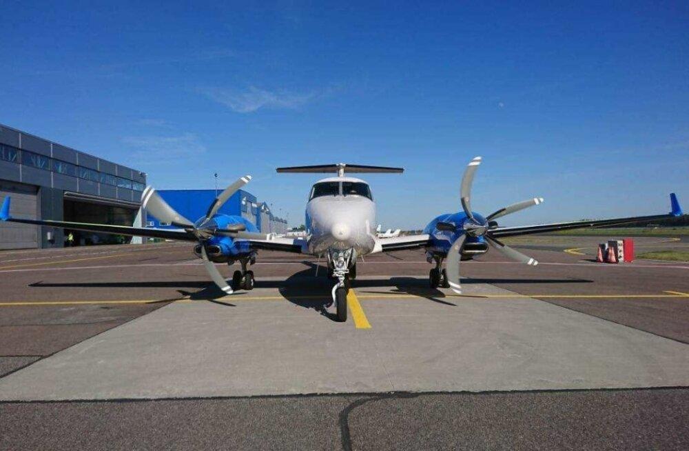 PPA Beechcraft King Air 350ER, politsei seirelennuk, millega Ratas lendas.