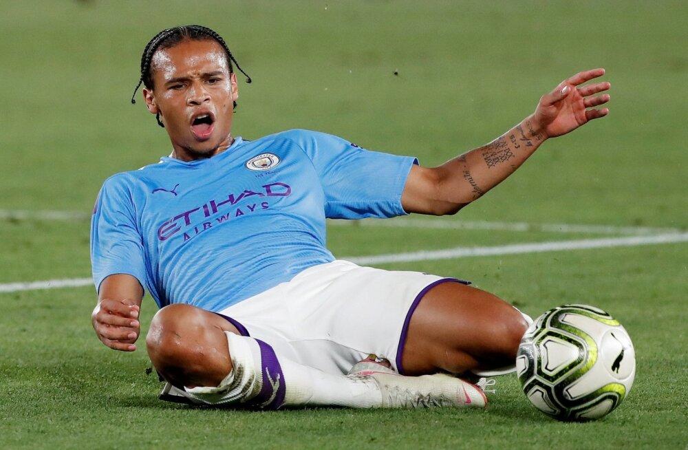 Leroy Sane Manchester City särgis.