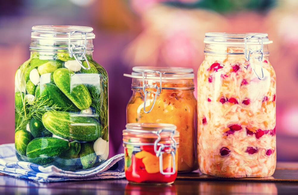 Hapendatud köögiviljasalat pakatab probiootikumidest