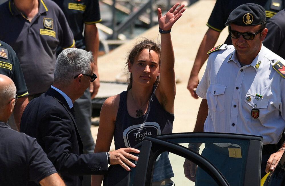 Itaalias vabastati merelt põgenikke päästnud laeva kapten