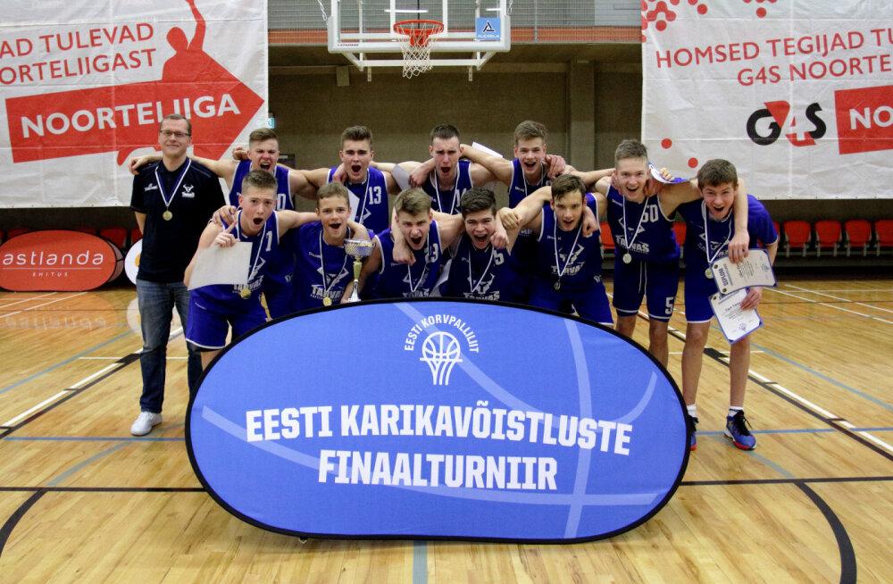 Rakvere korvpallurid tulid Eesti noortemeistriks
