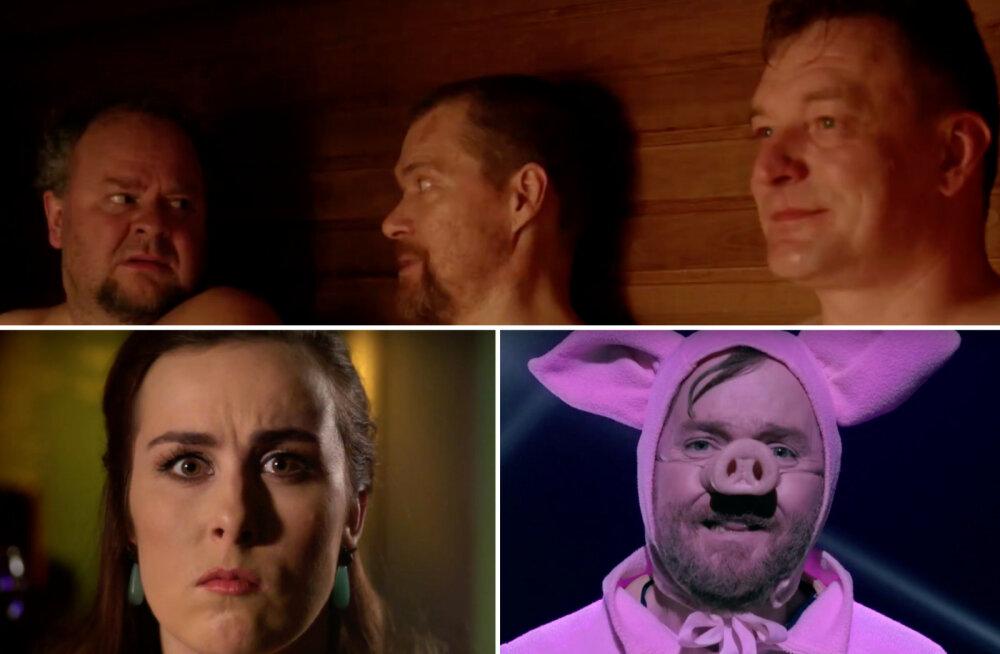 VAATA | Mehed saunas, hüpnoos, usukuulutajad - kas Eesti Laulu ajaloo parimad vaheklipid?