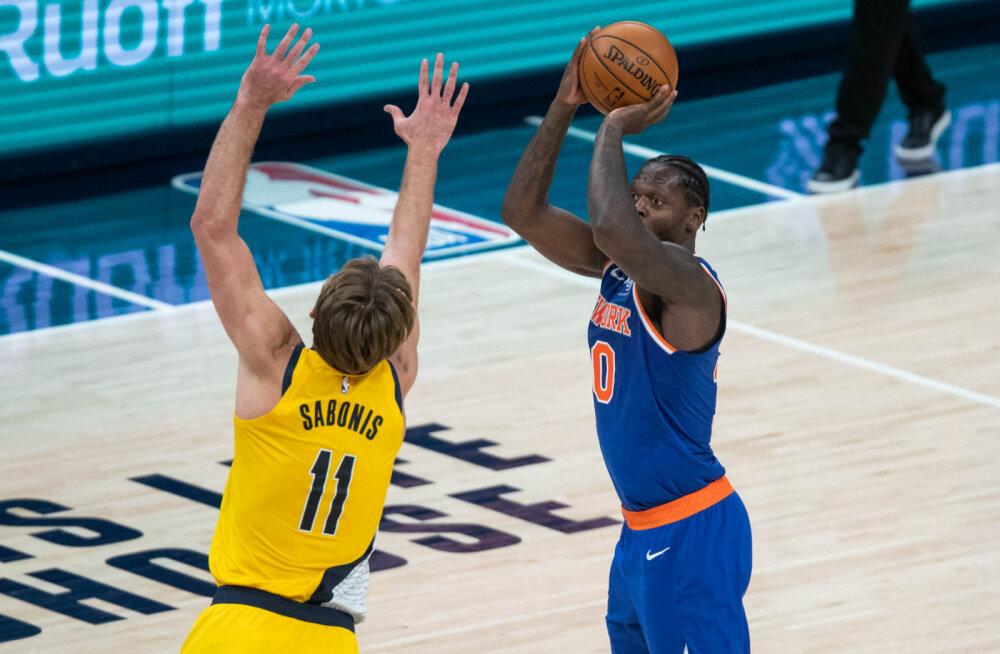 VIDEO   Sabonis tegi kuuenda järjestikuse kaksikduubli, kuid Knicksi murdis Pacersi