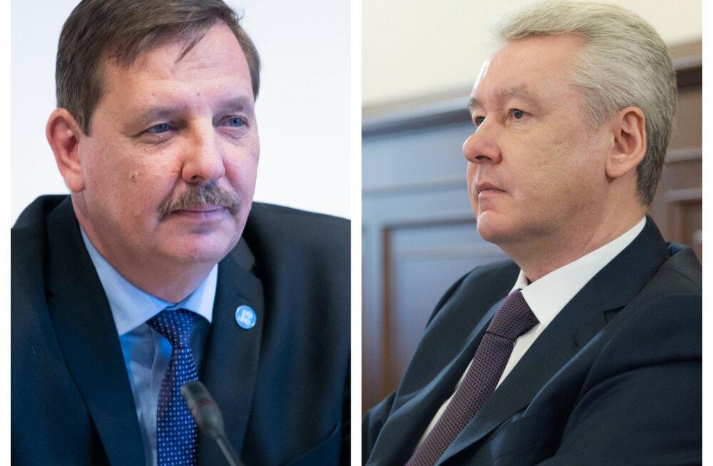 Taavi Aas õnnitles Moskva linnapeaks tagasi valitud Sergei Sobjaninit