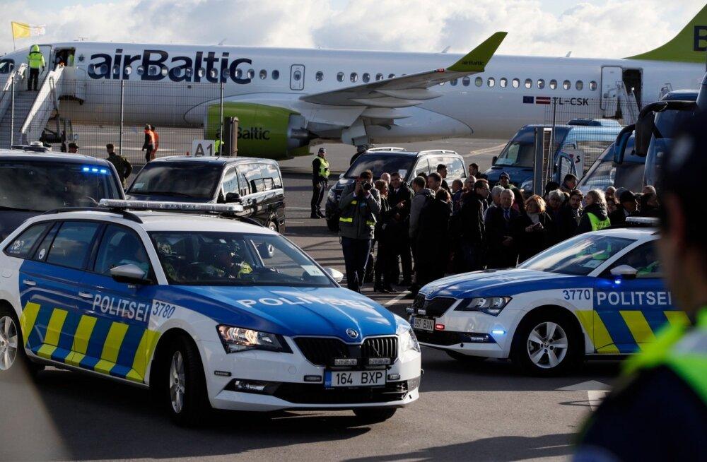 Paavst Franciscus saabus Tallinnasse
