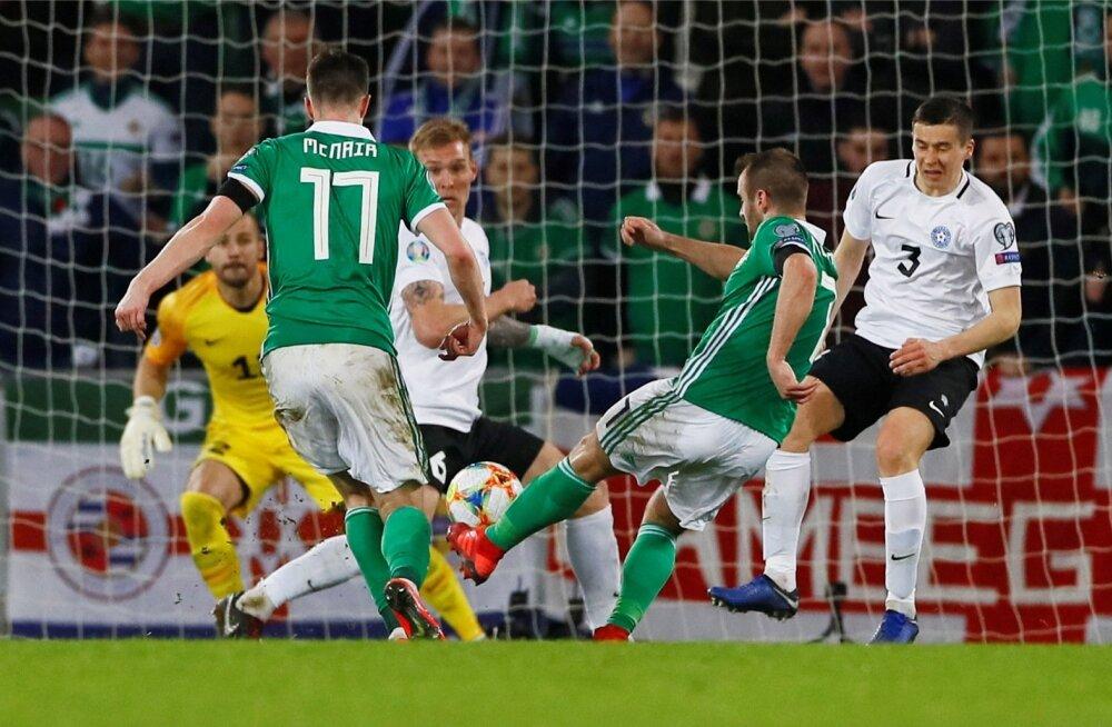Niall McGinn saatis 56. minutil palli Sergei Lepmetsa selja taha.