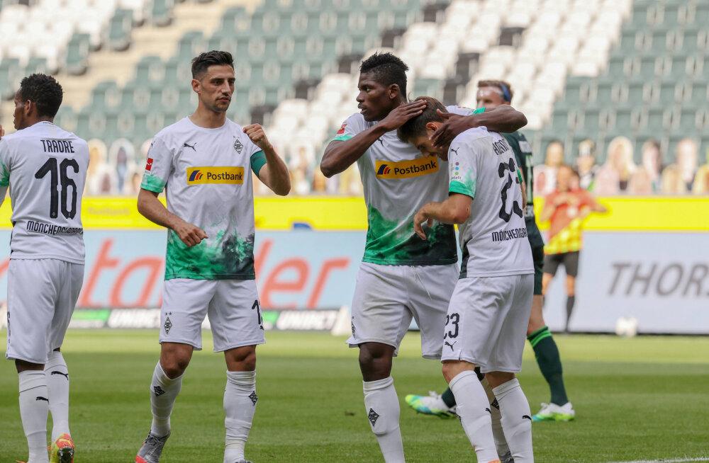 Mönchengladbachi võit tegi Leverkuseni Meistrite Liigasse saamise keeruliseks