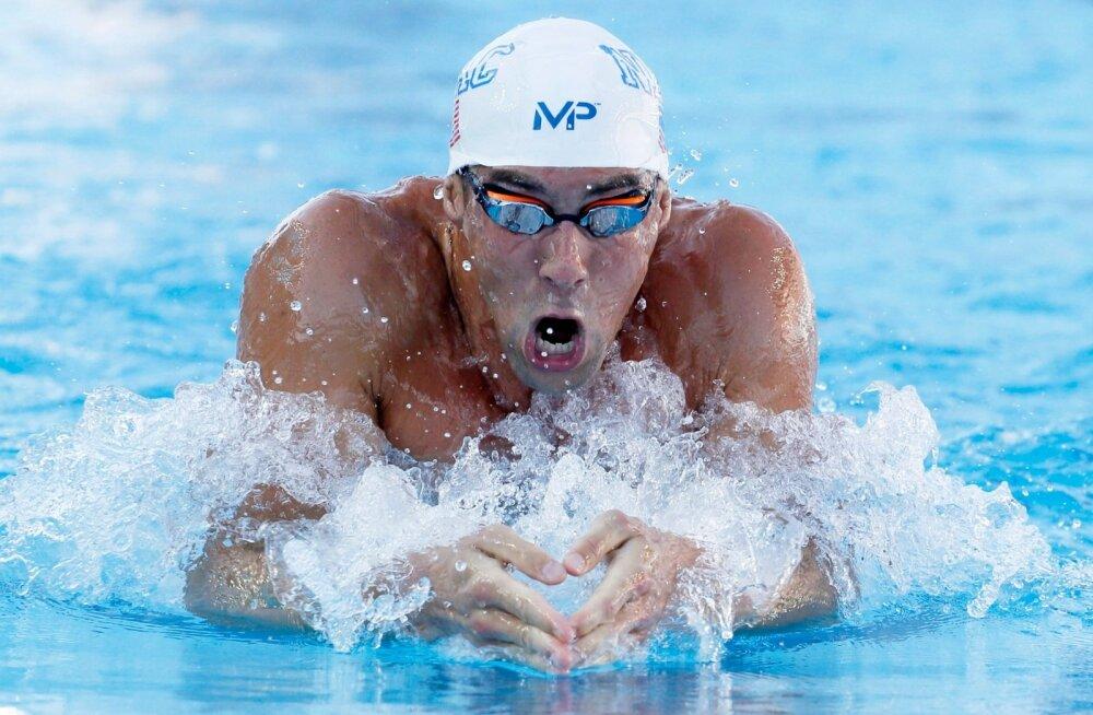 Phelpsilt maailma hooaja tippmark ka 200 meetri kompleksis