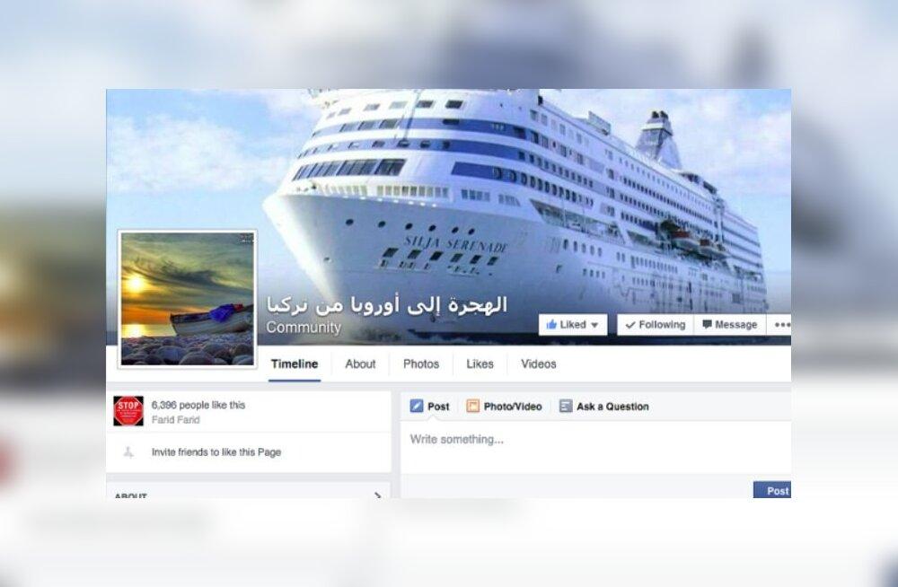 Перевозчики африканских беженцев в рекламной кампании использовали фотографию корабля Tallink