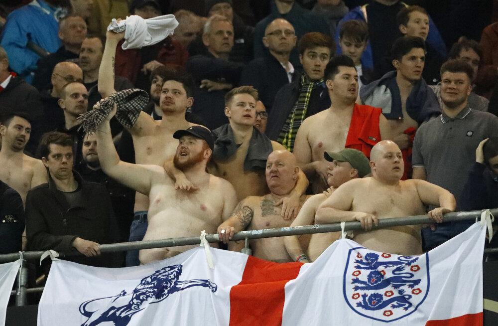 Inglismaa jalgpallifännid. Pilt on illustratiivne