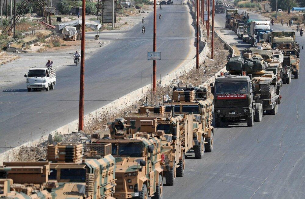 Türgi teatel tabas tema konvoid Süürias õhurünnak