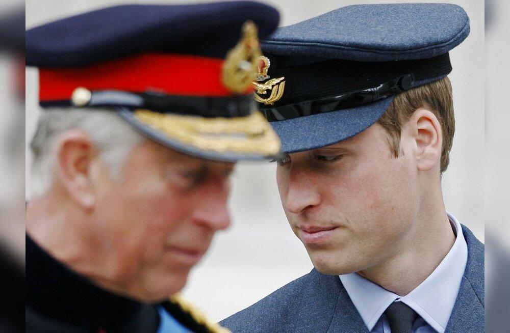 Britid soovivad prints Charlesi asemel kuningaks Williamit