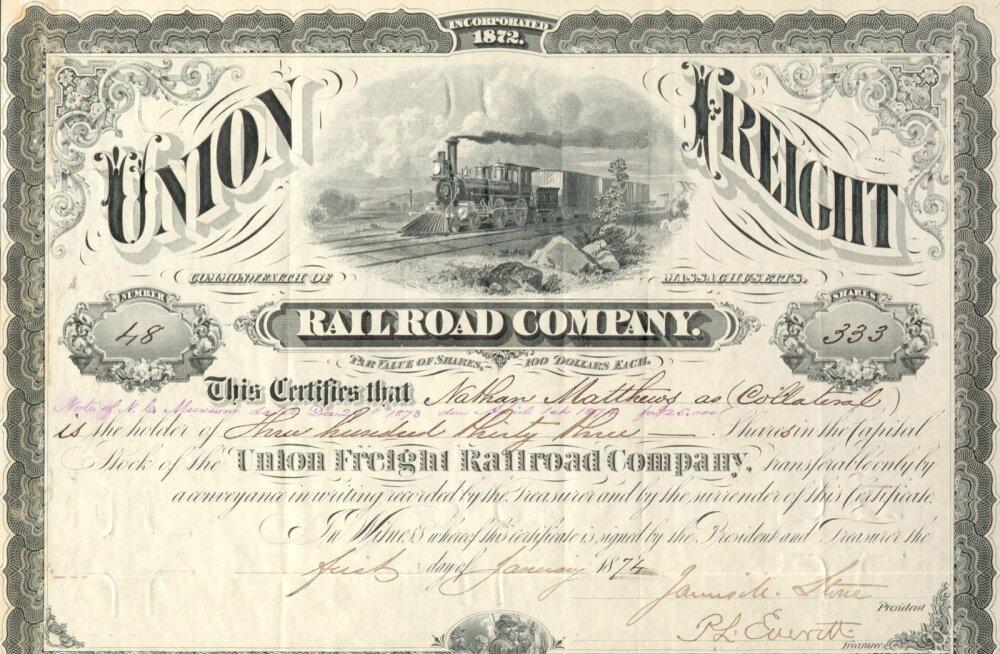 Union Freight Railroadi aktsia