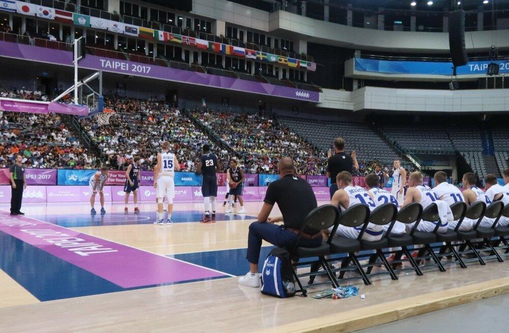 Universiaadi korvpallikohtumine Eesti - USA