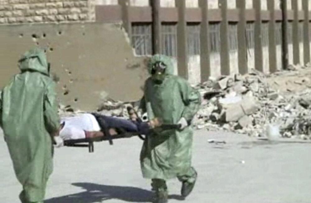 USA teatel on Süürias taas märke keemiarelvade kasutamise kohta režiimi poolt