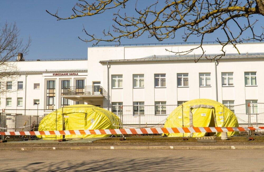 Kuressaare haigla võitleb koroonaviiruse puhanguga Saaremaal.