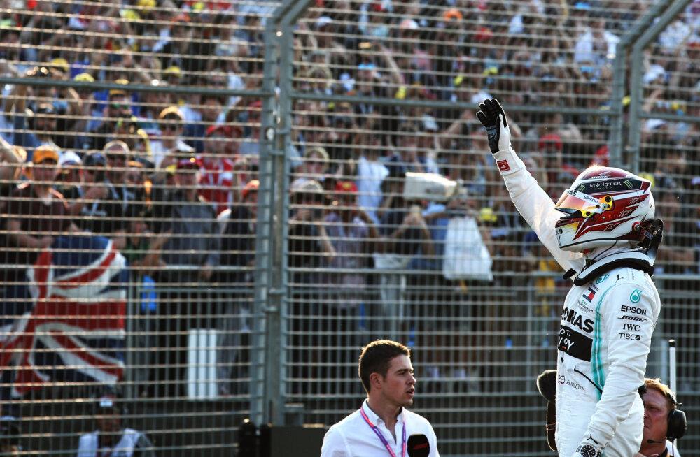 Lewis Hamilton stardib kuuendat aastat järjest Austraalia GP-le esikohalt