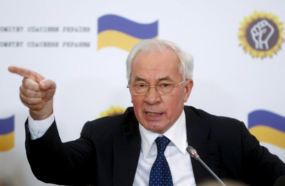 Ukraina ekspeaminister, osaliselt eesti päritolu Mõkola Azarov haub praeguse valitsuse kukutamist