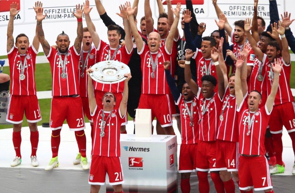 Müncheni Bayern viiendat aastat järjest Saksamaa meister