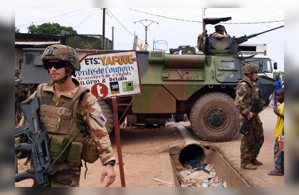Prantsuse väed pidasid Kesk-Aafrika Vabariigis kolm tundi mässulistega lahingut