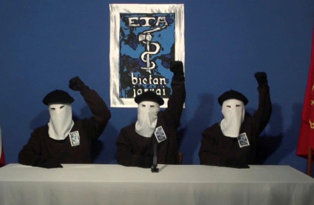 Baski relvarühmitus ETA palus oma terroritegude ohvritelt vabandust