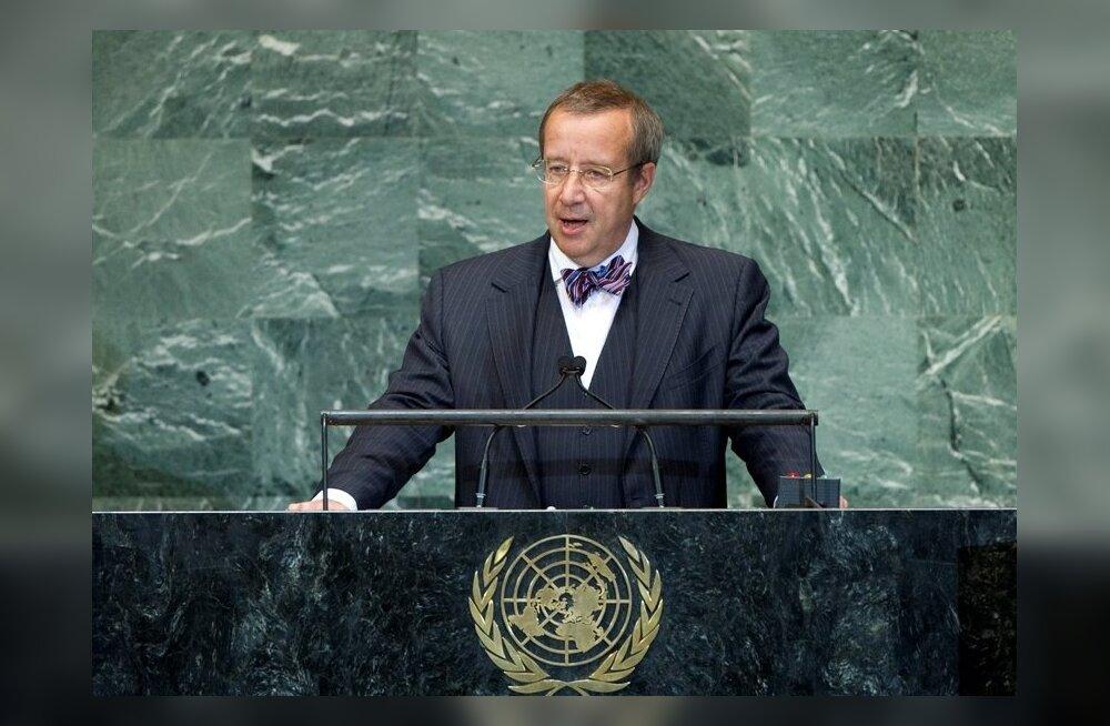 President Ilves ÜRO peaassambleel: hakkame vastutustundlikult käituma.