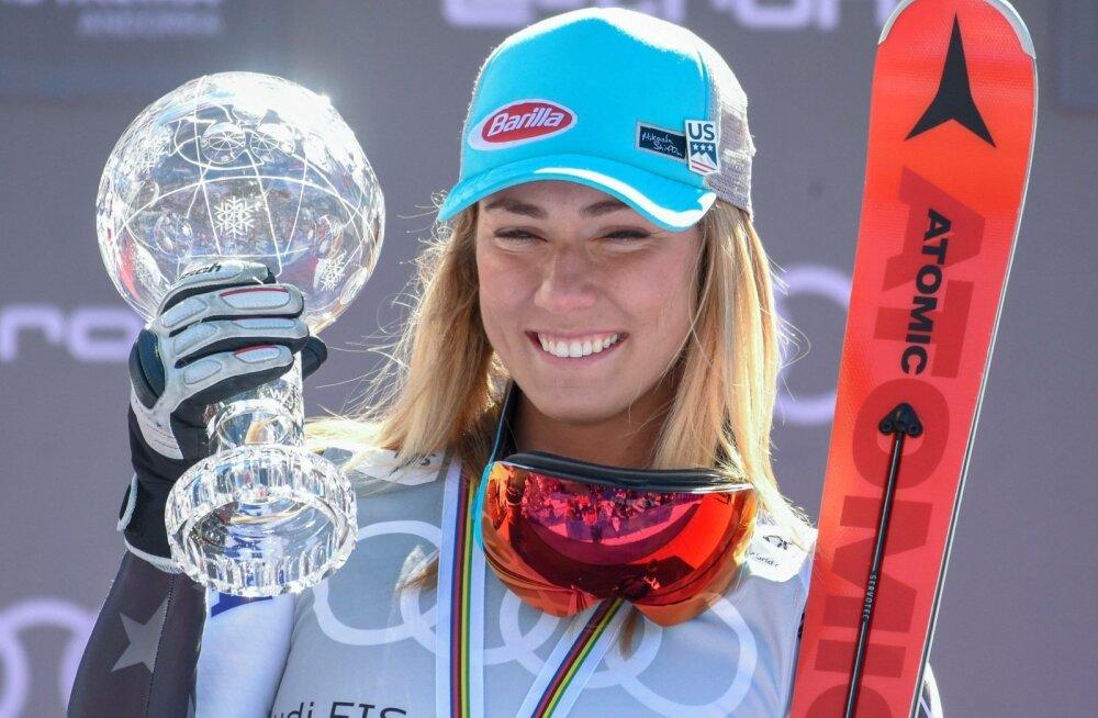 Mikaela Shiffrin noppis lõppenud hooajal usinasti võite.