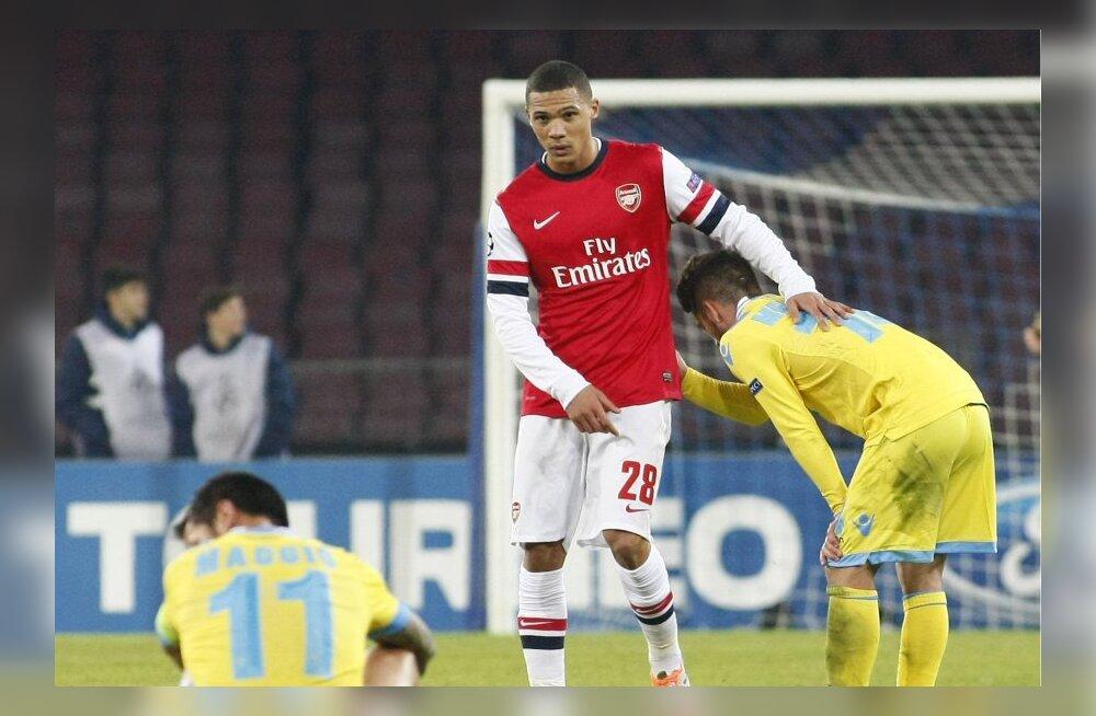 Pettunud Napoli mängijad Arsenali alistamise järel
