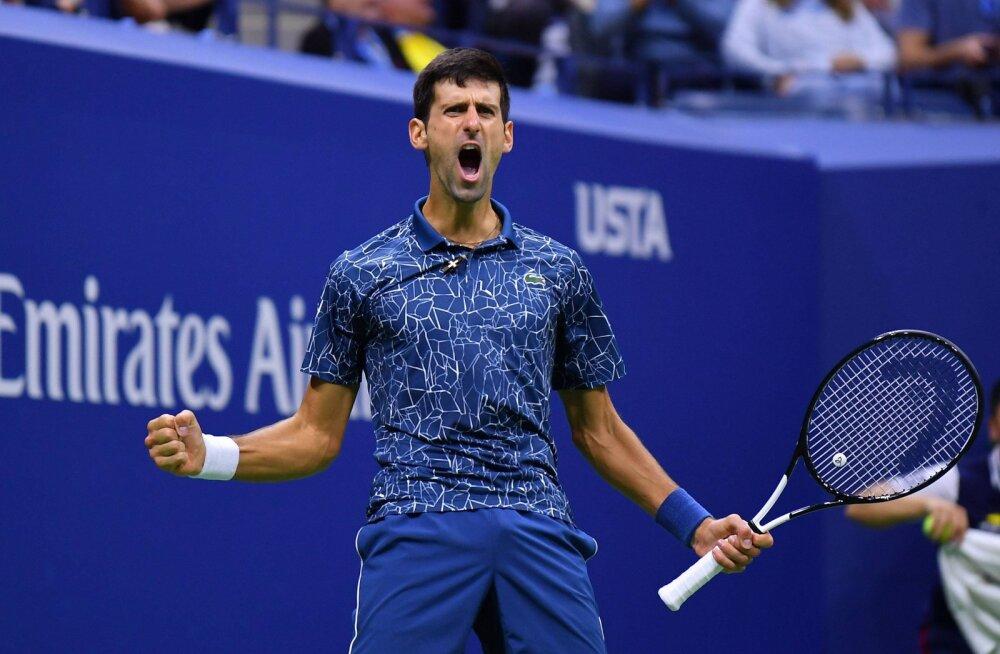 US Openi finaal: Djokovic alistas kolmes setis del Potro, otsustavaks sai 22-minutiline geim