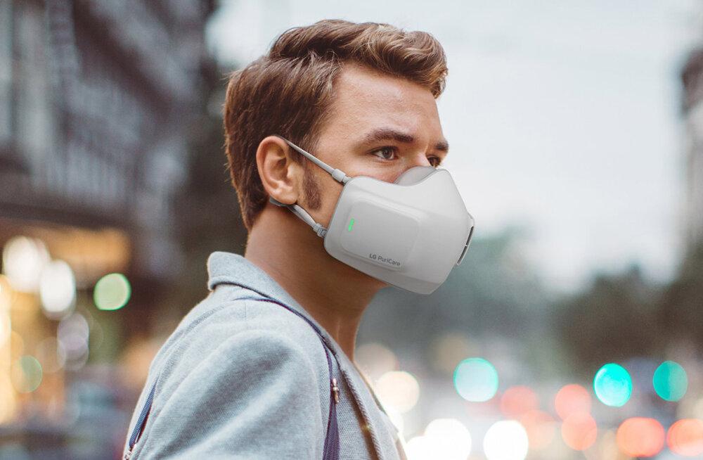 Uudistooteid maskirindelt: LG esitles näol kantavat õhupuhastit<o:p></o:p>