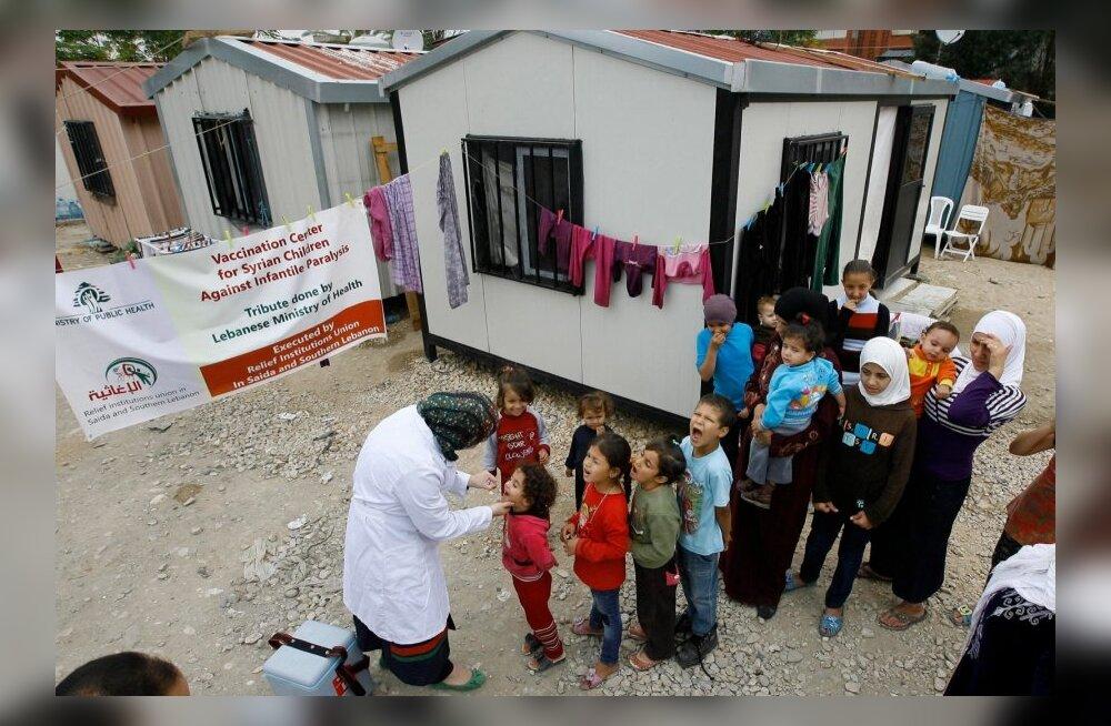 Lastehalvatuse vastu vaktsineerimine Süürias.