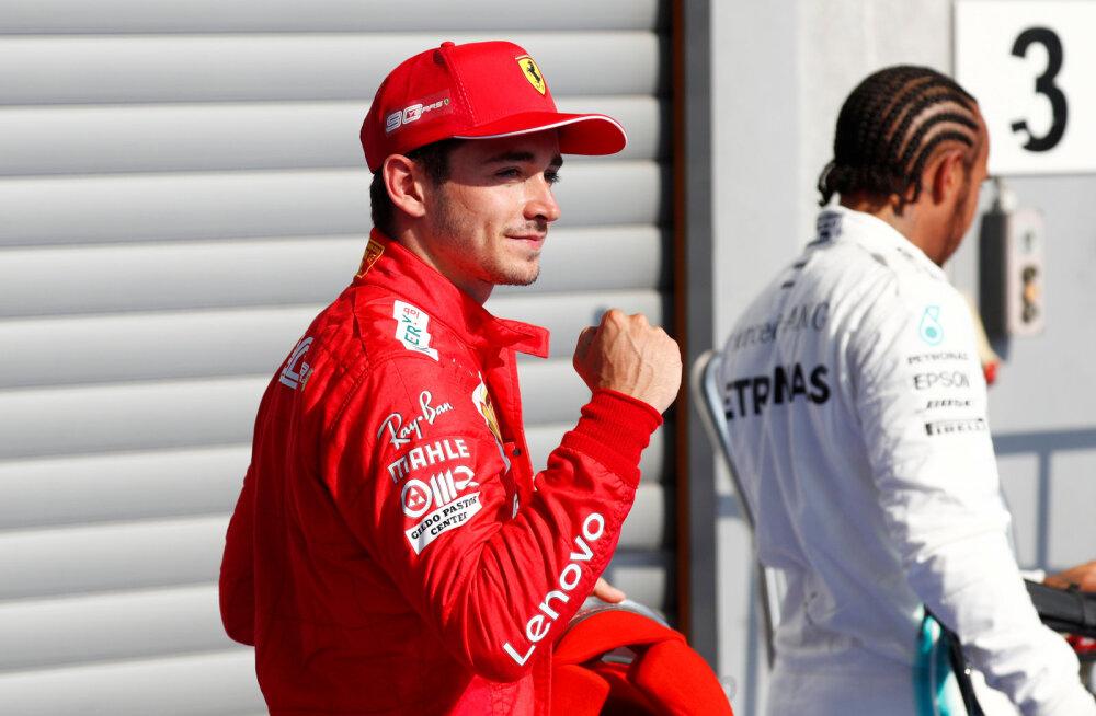 Kaks korda peatatud Belgia GP kvalifikatsiooni võitis Leclerc, Red Bulli debütant alles 14.