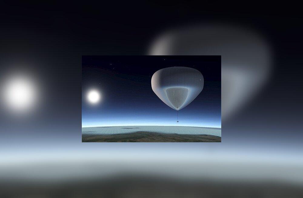 Heeliumipall kosmose piiril. Foto: Solent