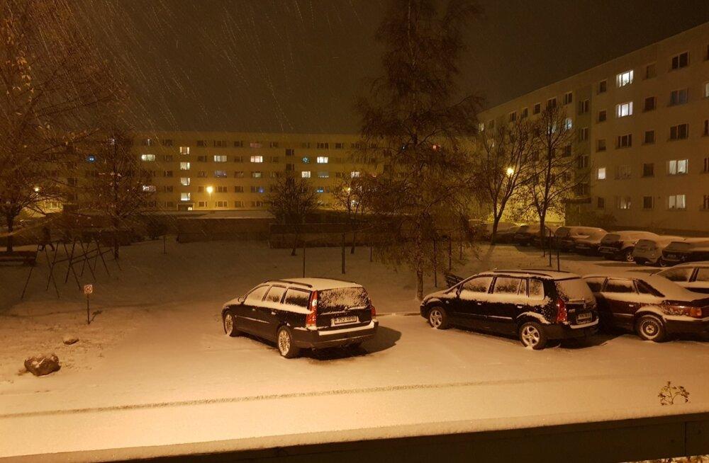 Ootamatult saabunud talv tõi hulga plekimõlkimist: vähem kui 12 tunniga 51 avariid